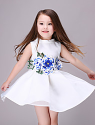 Girl's White Dress,Galaxy Polyester Summer