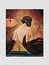 Hand-Painted People / Leisure Modern Oil Painting , Canvas One Panel