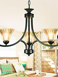 Vintage Wrought Iron Chandelier Minimalist Dining Room Den Bedroom Lamp Lamps American Pastoral