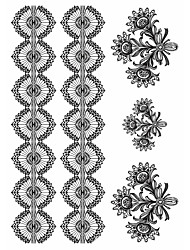 2 Tatouages Autocollants Séries bijoux / Séries animales / Séries de fleur / Séries de totem / Cartoon SeriesNon Toxic / Motif / Grande