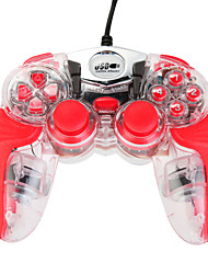 NEW-262 USB Controller with the Illuminated Streamline Light for PC Red