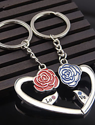A Pair Couple Key Chain Ring Heart Rose Flowers True Love Wedding Favors And Gifts Wedding Souvenirs