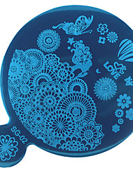 1шт поделки синий фильм искусства ногтя шаблон Зеркальная печать