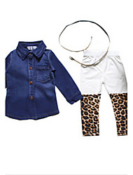 Girl's Clothing Set,Cotton Winter / Spring / Fall Blue