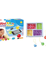 Puzzles 3D - Puzzle / Kristallpuzzle Bausteine DIY Spielzeug ABS Rot / Gelb / Lila / Schwarz Model & Building Toy