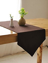 Square Patterned Table Runner , Linen / Cotton Blend Material Table Decoration