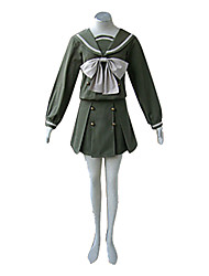 Inspired by Shakugan no Shana Shana Anime Cosplay Costumes Cosplay Suits / School Uniforms Patchwork Green Long SleeveTop / Skirt /