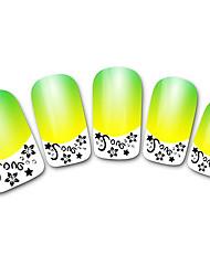 абстрактной желтый xf821 французский 3d наклейки для ногтей