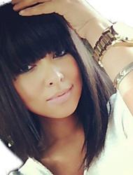 Peruvian Virgin Human Hair Full Lace Short Bob Wig Unprocessed Glueless Full Lace Human Hair Bob Wig With Bangs