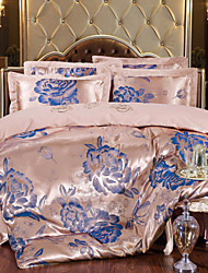 Floral Silk 4 Piece Duvet Cover Sets