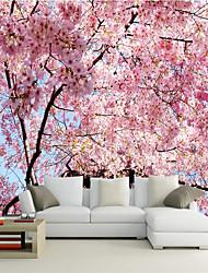 "(9'8 ""x 8'2""ft) Custom Photo Wallpaper Stereo Cherry Blossoms Backdrop 3d Large Wall Mural Wallpaper"