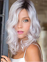 Venta caliente de alta calidad de color gris medio syntheic peluca