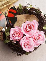 3-3.5cm Twelve Pink Roses/Box Preserved Fresh Flowers
