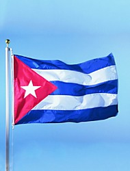 The Cuba Flag Polyester Flag 5*3 Ft 150*90 Cm High Quality Cheap Price In-Kind Shooting(Without flagpole)
