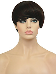 2016 New Short Cheap Wigs Pixie Cut Wig Afro Full African American Realistic Kanekalon Wig