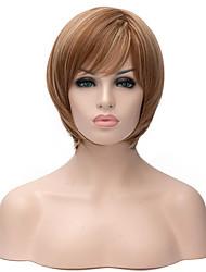 vente chaude nouveau cheveux raides couleur blond doré court perruques synthétiques