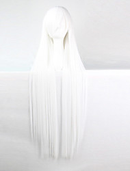 Anime Cosplay Wig White 100 CM Long Straight Hair High Temperature Wire