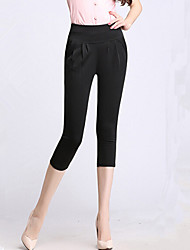 Women's Solid Pink / Red / White / Beige / Black / Green / Orange Skinny Pants,Plus Size / Casual / Day