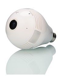 Built-in 32 GB Memory Card 960P Home Wireless Network(WIFI) Monitoring Bulb Type Fisheye 360 Degrees Panoramic  Camera