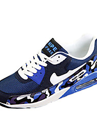 Running Shoes Men's Shoes Athletic Tulle Fashion Sneakers Blue / Red / White