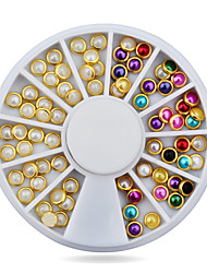 Hot 3d Nail Art Pearl Rhinestones Wheel,5mm Nail Stylish Tool Metal Studs Gems Charm Craft