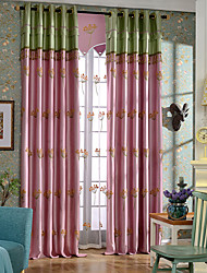 Flocked window screens flowers embroidery cotton curtain home decoration living room tulle finished products  no valance