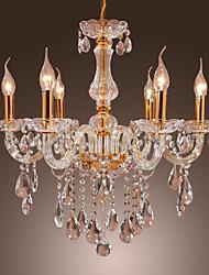 Lustres ,  Tradicional/Clássico Dourado Característica for Cristal Metal Quarto Sala de Jantar Quarto de Estudo/Escritório Entrada