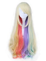 Cosplay Wigs Vocaloid Cosplay White Long Anime Cosplay Wigs 80 CM Heat Resistant Fiber Female