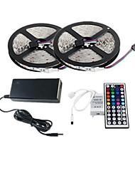 2 × 5m 150x5050 SMD RGB LED-Streifen und 44key Fernbedienung und 6a au Stromversorgung (AC110-240V)