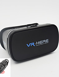 "VR Virtual Reality 3D Glasses +Smart Bluetooth Wireless Mouse/Remote Control Gamepad for 3.5 ~ 6"" Mobile Phone"