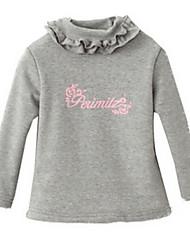 Girl's Pink / White / Gray Blouse,Ruffle Cotton Winter / Fall