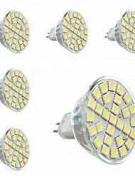 5W GU5.3(MR16) Faretti LED MR16 29 SMD 5050 440 lm Luce fredda AC 220-240 V 6 pezzi