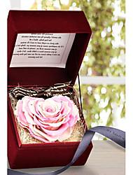 hartvormige rozen bewaard verse bloemen moederdag aanwezig