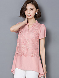 2016 Summer Women New Lace Stitching Short-Sleeved Blouse