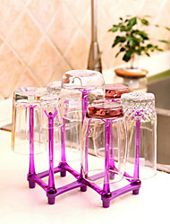 Foldable Cup Hanging Rack RED Wine Glass Holder Support Random Color
