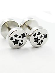 Earring Stud Earrings Jewelry Women / Men Daily / Casual / Sports Stainless Steel 1 pair Silver