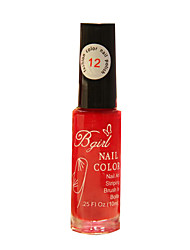 Bgirl Painting Red 10ML Manicure Drawing Pen Nail Polish for 3 Years