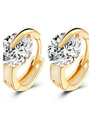 AAA Zircon CZ Luxury Little Hoop Earrings Alloy Earring Stud Earrings Wedding / Party / Daily / Casual 1 pair