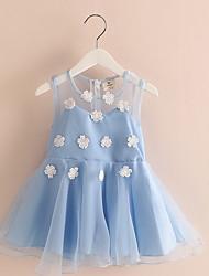 New Kids Girls Birthday Girl Dress Cute Sequin Sleeveless Vest Princess Flower Lace Dress 2 Color Baby Dresses For Girls
