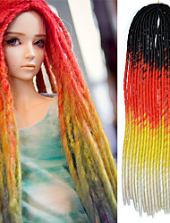 Senegal Dread Locks Hair Extensions 20 Kanekalon 100 gram Hair Braids with Free Crochet Hook