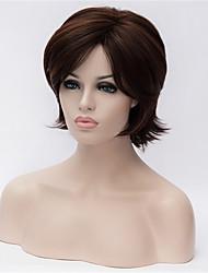 os novos marrom escuro cabelo curto velhos curly perucas naturais de 6 polegadas
