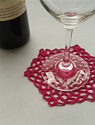Hexagon Cotton Table Mat Crochet Coasters Zakka Doilies Cup Pad Props For Wedding