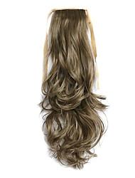 longitud 50 cm marrón peluca de pelo rizado de cola de caballo mezcla sintética del tipo de correa (color 27a / 613)