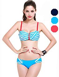 Bikini / Deux-pièces Aux femmes Volants Licou Nylon / Spandex