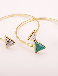 White/Green Resin  Gold Plated Bracelet Bangles Daily / Casual 1pc