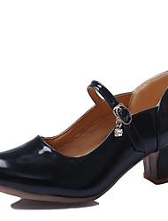 Zapatos de baile(Negro / Morado / Plata) -Moderno-No Personalizables-Tacón Cuadrado