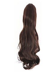 Curly Dark Brown Synthetic Long Curly Hair Claw Clip Wig Ponytail