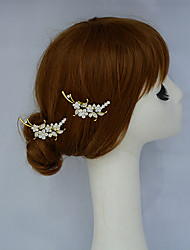Women's / Flower Girl's Rhinestone / Alloy Headpiece-Wedding / Special Occasion / Office & Career Hair Clip 2 Pieces