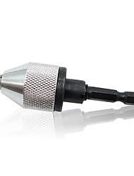 """1/4 """"broca keyless bit chuck polegadas adaptador de mudança rápida conversor hex shank 0.3mm-3 milímetros bit chuck broca elétrica"""