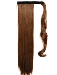 коричневый 60см синтетический высокая температура проволоки парик прямые волосы конский хвост цвет 4a / 27а